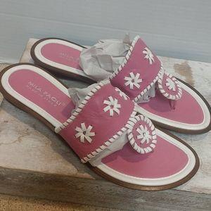 Beautiful Pink and White Sandals Size 9